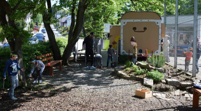 Die Lindenschule wird noch schöner – Schulhofaktion der Schulpflegschaft am 6.5.2017